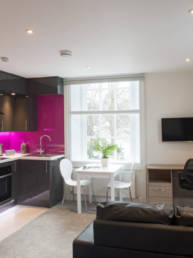 Accommodation kitchen area