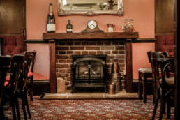 University Arms fireplace