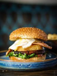 The Edge Bar breakfast burger